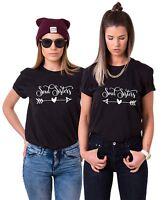 """Best Friends BFF FREUNDINNEN Besties Damen T-Shirt Shirts im Set """"Soul Sisters"""""""