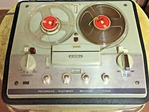 Philips RK36, El 3547A/22A Suitcase Tape Recorder/Tape Player (1962) Working