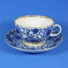 Tea Cup & Saucer, Lomonosov Porcelain, Convolvulus, IFZ, Russia