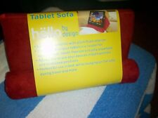 Tablet Pillow For Galaxy/iPad/Various Devices Tablet Sofa Cushion Stand--Red