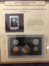 1971 US Mint Proof Set Kennedy Half Dollar Stamp America's Finest Coinage PCS