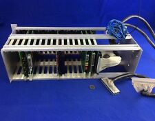 WINSYSTEMS 500-3009-001 16-SLOT BUS CARD RACK/CHASSIS w/ (6) PCB CARDS