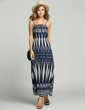 """CHRISSY"" BEAUTIFUL LADIES SIZE 8 BOHO AZTEC PRINT SUMMER COTTON MAXI DRESS"