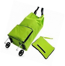 Kittymouse Collapsible Foldable Wheeled Shopping Cart Bag Green