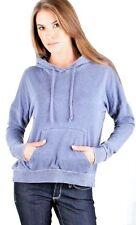 CHASER LA NWT Peacoat Blue Hoodie Hooded Sweatshirt Women's Sz S Hi-Low $75