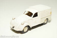 PLASTIC AP MODELS SPAIN CITROEN 2CV 2 CV FOURGON WHITE VAN EXCELLENT CONDITION