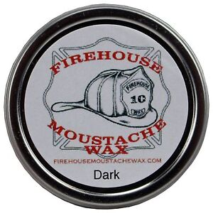 Firehouse Moustache Wax 1 oz - Dark, Strong Hold, Free Shipping, Made in the USA