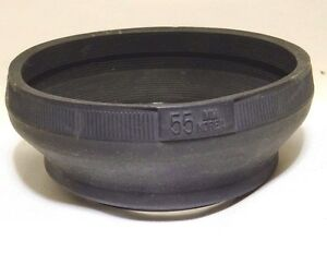 55mm Rubber Screw in Lens hood shade for 50mm f1.8 f1.7 Worldwide