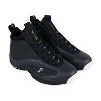 Reebok Iverson Answer Iv.V Mens Black Mid Top Athletic Gym Basketball Shoes