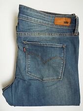 LEVI'S SLIGHT CURVE JEANS WOMEN'S MID RISE STRAIGHT W32 L32 MID BLUE LEVH447 #