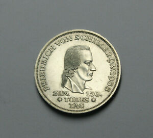 5 Mark Gedenkmünze Schiller 1955 - original