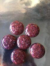 Vintage Set Big Lucite Buttons Shells Confetti Sparkle