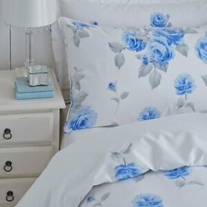 Charlotte Thomas Chloe Floral Housewife Pillowcases in Blue (Pair)