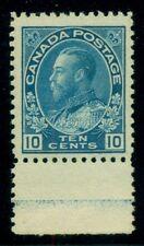 CANADA #117 10¢ blue, margin single w/partial lathework Type D, NH, VF+