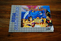 Notice version FR du jeu GAME GEAR ALADDIN (notice seule)