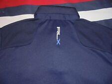 Mens - RALPH LAUREN - RLX - Polo Golf Shirt Navy Blue Wheeling M Medium