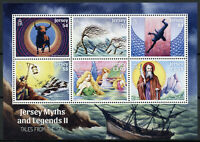 Jersey Mythology Stamps 2020 MNH Myths & Legends Part II Tales from Sea 6v M/S