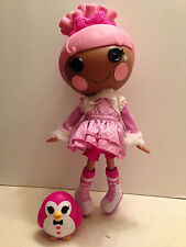 "Lalaloopsy Swirly Figure Eight Doll Full Size 14"" Pink Hair Penguin Ice Skates"