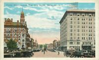 Autos Cherry Street Second Macon Georgia 1920s Postcard Kropp Trolley 9708