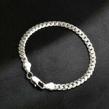 5MM 925 Silver Bracelet Fashion Women Snake Chain Bangle Jewelry Gift NEW