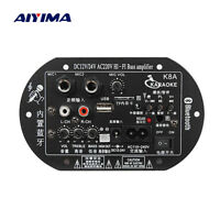 Aiyima Car Bluetooth Subwoofer Hi-Fi Bass Amplifier Board Audio TF USB 12V/24V