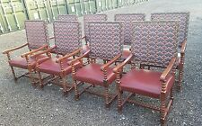 Large Carver Hall Fireside Throne Chairs Bobbin turned heavy quality Bar x8