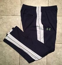 UNDER ARMOUR * Mens BLUE / WHITE Athletic / Work-out Pants * Size LG