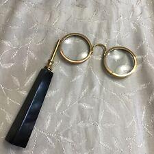 V Magnifying Lens Handheld Reading Glasses Lorgnette Spectacles Eyeglasses