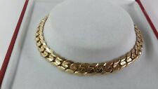 9ct Gold Ladie Solid Close Link Curb Bracelet. 9g. 7.25 inch. Hallmarked.