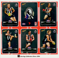 2012 Select AFL Champions Silver Laser Stickers Card Team Set Collingwood (12)