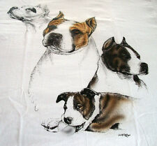 "American Staffordshire Terrier T-shirt "" White "" 3Xl ( 54 ~ 56 )"