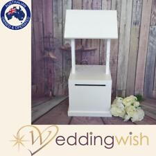 White Timber Wishing Well, Wedding Engagement Cheap Card Box