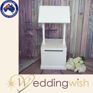 White Timber Wishing Well, Wedding Engagement Cheap Card Box