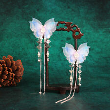 Chinese Traditional Butterfly Tassel Hairpin Hair Clip Hanfu Cosplay Headdress