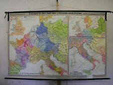 Scheda crocifissi bella vecchia Europa Mappa Europe Map 919-1125 204 x134cm 1964 imperatore