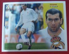 ZIDANE REAL MADRID, ESTE 02-03, 2002-03, 2002-2003, SIN PEGAR, DE SOBRE.