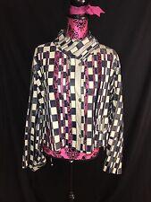 Vintage Giorgio Armani Italian Checkerboard Leather Jacket Size 14 (EU 46)