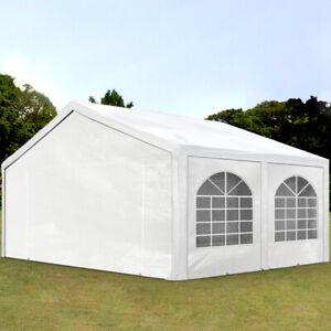 Partyzelt Pavillon 5x5m Bierzelt Festzelt Gartenzelt Vereinszelt Markt Zelt weiß