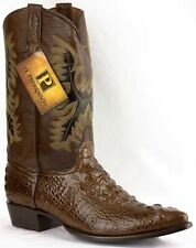 Mens Brown Alligator Crocodile Hornback Leather Cowboy Boots Point Toe Size 13.5