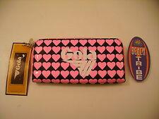GOLA PORTAFOGLIO BIG DAVIS HEARTS CUB632 BLACK PINK WHITE NERO ROSA CUORI 505308