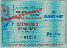 68386 - BIGLIETTO PARTITA CALCIO  Scudetto 1981-82 : INTER / Catanzaro