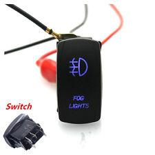 Car Rocker Switch Backlit Fog lights Blue LED Light 5 Pins On-Off Switch 12V