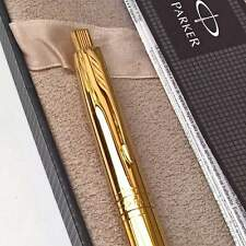 24ct Gold Plated Metal Parker Aster Ball Point Writing Pen 24k Gift Box Ink