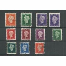 Ned. Indie 337-346 Wilhelmina 1948  VFU/gebr  CV 100 €
