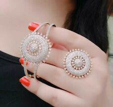 Indian Bollywood AD Bracelet Ring Bridal Bangle Statement Jewelry Fashion Arrow