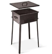 Fornacetta Barbecue Taormina in ferro battuto Made Italy x giardino 35x45x66 cm