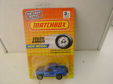 1990 MATCHBOX SUPERFAST MB 52 BLUE ISUZU AMIGO NEW ON CARD