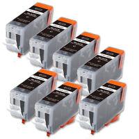 7 Pack New BLACK Ink w/ CHIP for Canon PGI-5BK Pixma MP530 MP600 MP610 MP800
