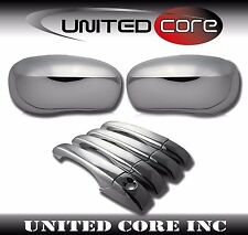 For 2005-2010 Chrysler 300C Dodge Magnum Chrome Mirror Covers Door Handle Covers