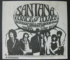 Santana Kentucky Fair & Exposition Center 1971 Concert Flyer Tuten Carlos Psych